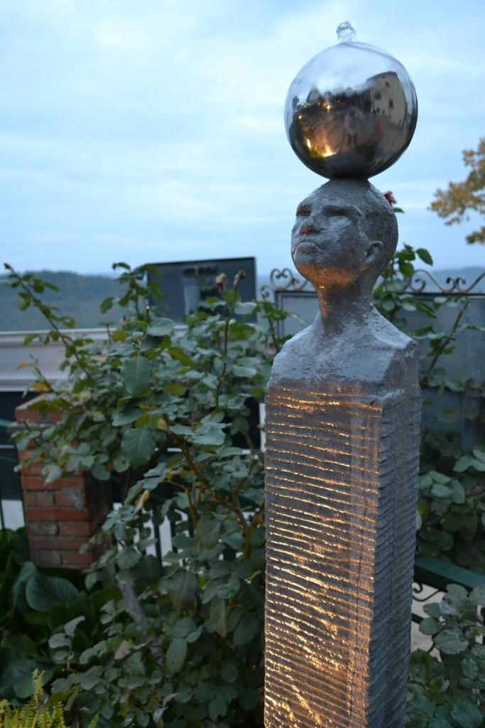 Boris Stampfli Fountain Head with Sphere